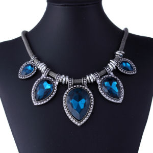 Fashion Vintage Diamond Crystal Heart Pendant Choker Necklace Jewelry pictures & photos