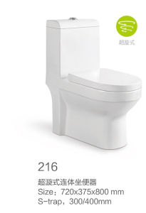 216 Siphonic One-Piece Toilet New Model pictures & photos