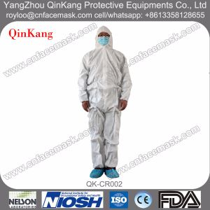 Disposable Fluid Resistant Medical Isolation Coverall for Hospital Cleanroom pictures & photos