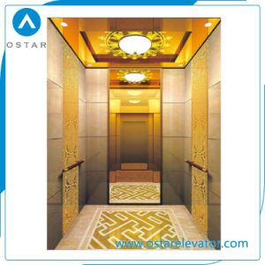 Titanium Stainless Steel Cabin Decorationed Passenger Elevator for Villa pictures & photos