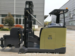 1.5ton Battery 3 Way Vna Electric Narrow Special 10 Meter Guide Forklift pictures & photos