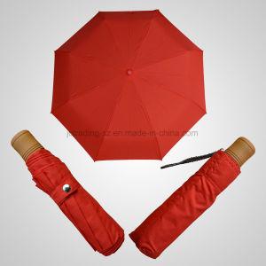 Iron Steel Strong Manual Open 3 Fold Umbrella Rain/Sun Umbrella (JF-MMO305) pictures & photos