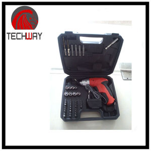 DC 4.8V 45PCS No Foldable Cordless Screwdriver 600mA Ni-CAD Battery pictures & photos
