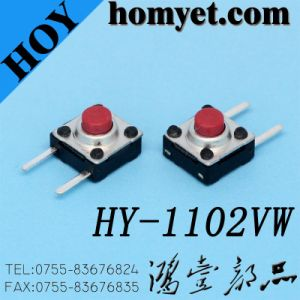 Two Long Feet Side Press DIP Type Horizontal Tactile Switch pictures & photos