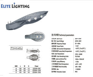 high Brightness Long Working Life LED Street Light pictures & photos