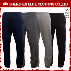 Custom Made Wholesale Cheap Black and Grey Jogger Sweatpants (ELTJI-26) pictures & photos