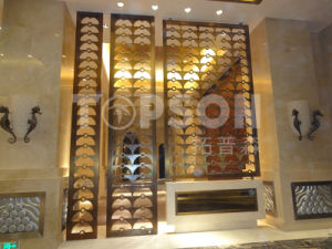 Decorative Stainless Steel Folding Screen Room Divider Partition Wall pictures & photos