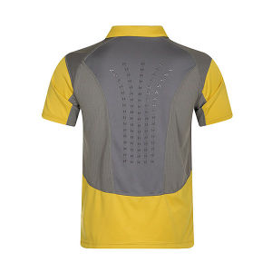 Men Quick Dri Polyester Sports Polo with Mesh Fabric Insert pictures & photos