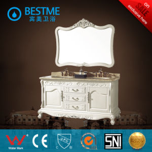Classical Style Oak Material Bathroom Cabinet (BY-F8001) pictures & photos