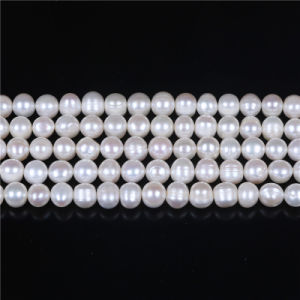 """B Grade 8mm 9mm Frehswater Pearl Strand 16"""" Long pictures & photos"""