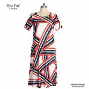 Miss You Ailinna 802030-1 Women Print Pattern Cotton Dress pictures & photos