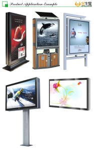 Aluminum Material Standing Digital LED Scrolling System Rotating Light Box Billboard Jq-6040 pictures & photos