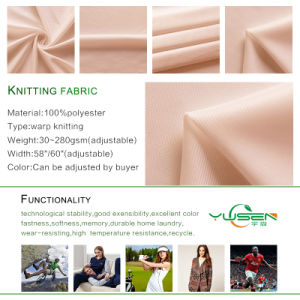 Warp Knitting Brushed Super Poly Tricot Fabric pictures & photos