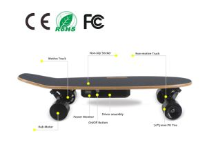 2017 Hot Selling Dual Motor 350W*2 Remote Control Electric Skateboard