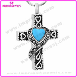 Stainless Steel Memorial Jewelry Cross Pendant Necklace with Crystal Ijd9699 pictures & photos