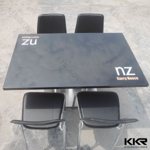 Solid Surface Stone Restaurant Fast Food Tables (170506) pictures & photos
