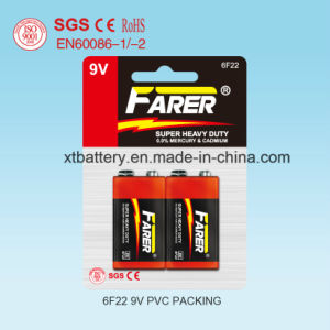 Farer Super Heavy Duty Dry Battery (9V 6f22) pictures & photos