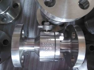 F316 Class150 Nps3/4 Flange Forged Steel Ball Valve pictures & photos