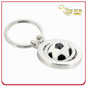 Custom Football Design Nickel Plated Spinning Metal Keychain pictures & photos