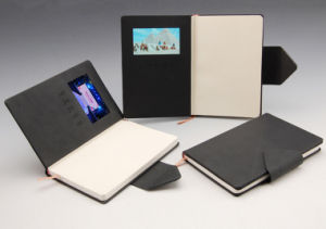 Logo Printed Notebook with Power Bank USB pictures & photos