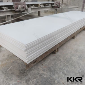 White Artificial Stone Corian Solid Surface for Kitchen Countertops pictures & photos