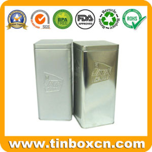 Embossing Square Tin Box for Coffee, Metal Tin Food Can pictures & photos
