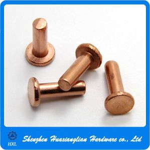 Factory Supply Flat Head Copper Solid Rivet for Bags pictures & photos