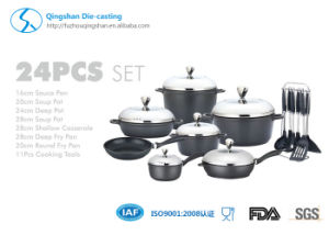 Aluminum Die Casting Non-Stick Cookware Set pictures & photos