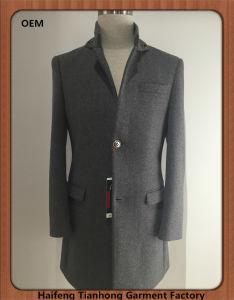 High Quality Men Gentlemen Winter Tweed Coat