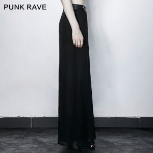Pk-098 Punk Rave New Ladies Chiffon High Waisted Long Wide Leg Pants Culottes pictures & photos
