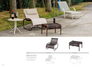 Aluminum Outdoor Rattan Wicker Rocking Lounge Chair