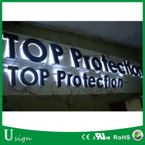 Outdoors Illuminated Channel Letters, Stainless Steel Backlit LED Sign pictures & photos