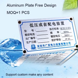High Quality Equipment Nameplate with Aluminum Material pictures & photos
