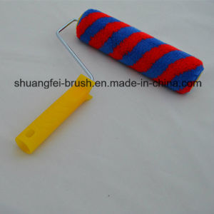 "9"" Rainbow Stripe Paint Roller with Plastic Handle for All Painting pictures & photos"