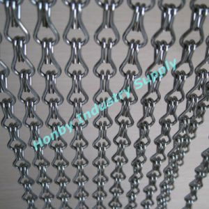 Decorative 12mm Size Pop Silver Colored Aluminum Chain Curtain