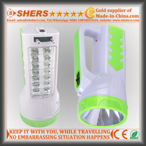Rechargeable 1W LED Flashlight with 14 LED Desk Lamp (SH-1954A) pictures & photos