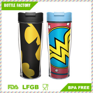 Plastic Double Wall Travel Mug 15oz pictures & photos