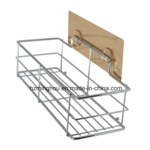 Shower Floor Caddy Wall Mounted Metal Display Shelf Rack pictures & photos