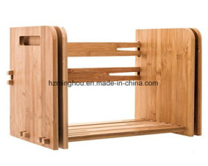 Practical Wooden Tabletop Book Rack Magazine Rack pictures & photos