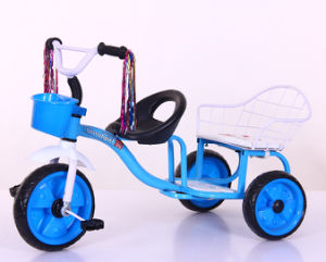 Kids Tricycle with Two Seats Baby Ride on Toys Children Bike pictures & photos