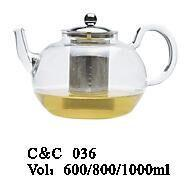 600ml 800ml 1000ml High Quality Cheap Price Glass Teapot with Infuser pictures & photos