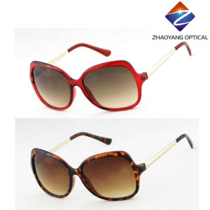 Ladies Fashion Sunglasses with Metal Temple for Accessory, Eyewear