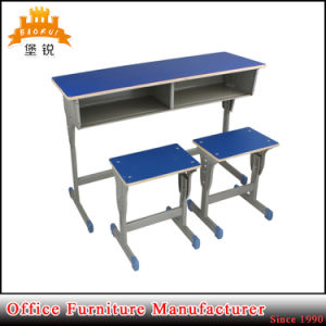 Hot Sale Metal Frame Study Desk Designs and Elementary School Student Tables and Chair pictures & photos
