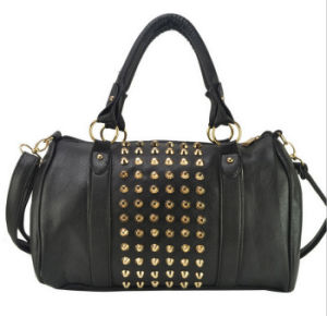 China Wholesale Fashion PU Rivet Shoulder Hand Bag