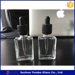 30ml Rectangle Glass Dropper Bottles Flat E Liquid Bottles pictures & photos