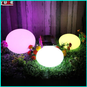Promotional Trend Christmas Flat Egg Lamp LED Gift Outdoor Garden Decoration pictures & photos