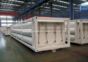 Cylinder Container, 8 Tubes Skid CNG Trailer CNG Tank, CNG Jumbo Cascade pictures & photos