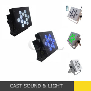 12PCS 10W 4in1 Wireless Battery Powered LED Flat PAR pictures & photos
