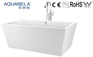Simple Common Acrylic Square White Bathtub (JL604) pictures & photos