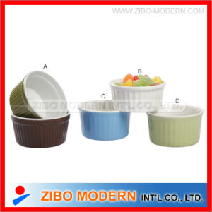 Ceramic Ramekin Bowl with Solid Color pictures & photos